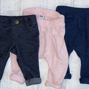 Lot of 3 Pairs of Baby Girl Pants / Jeggings